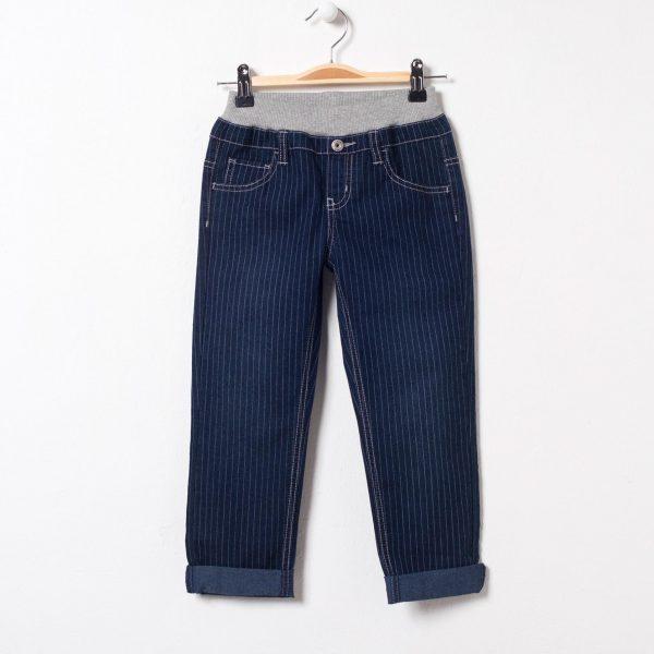 Pantaloni blugi in dungi