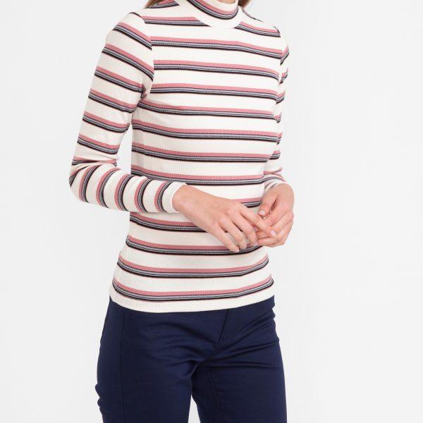 Bluza cu dungi pe gat
