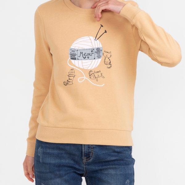 Bluza - imprimeu cu pisici