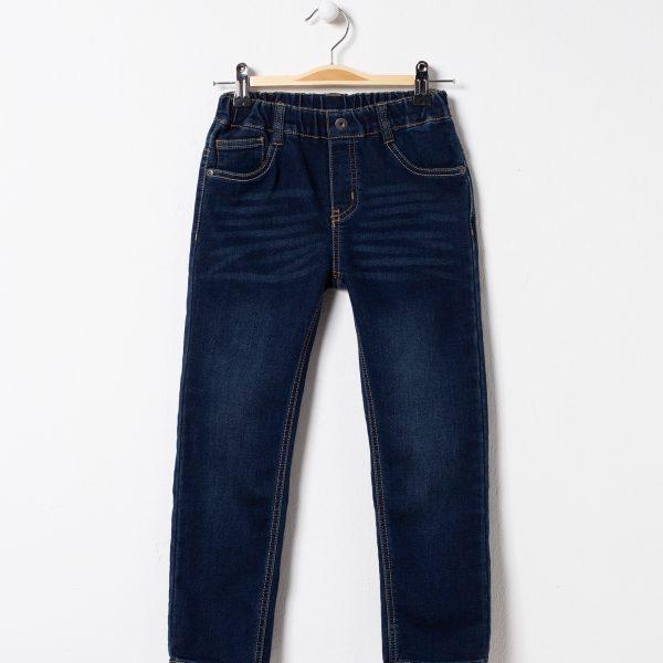 Pantaloni de blugi cu talie elastica