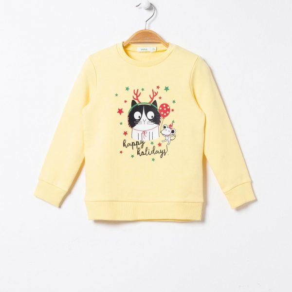 Bluza cu imprimeu pisica