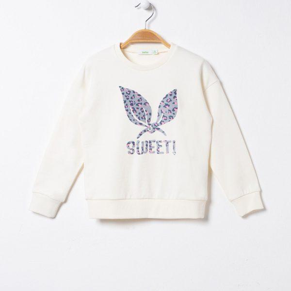 Bluza cu imprimeu fluture