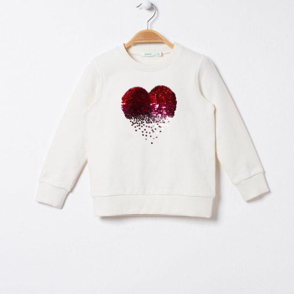 Bluza cu imprimeu inima