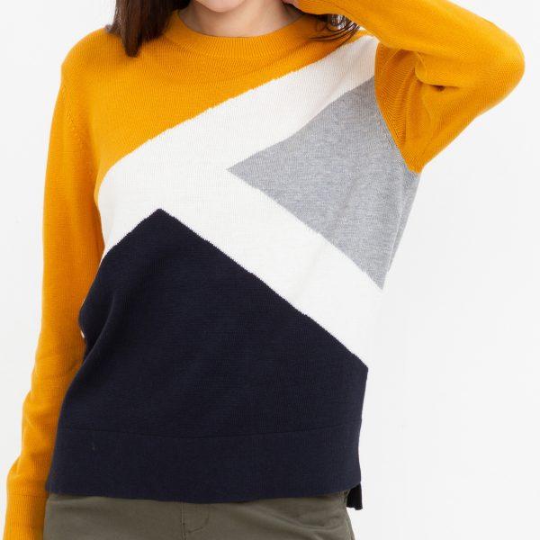 Pulover color blocking